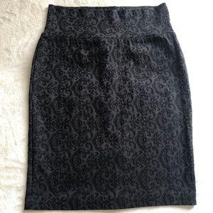 Twik high waisted stretch pencil skirt M